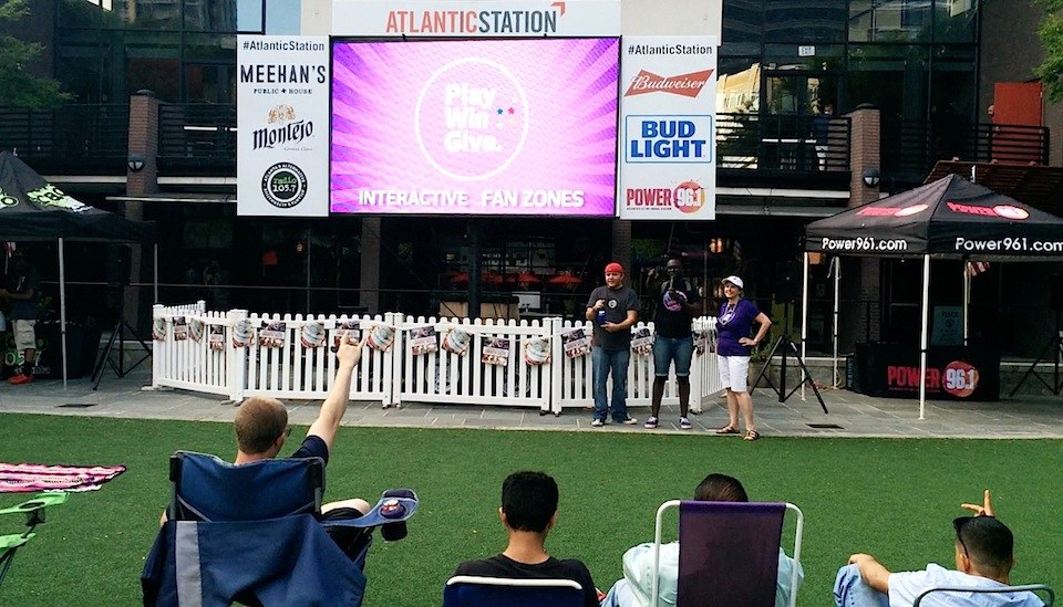 Atlantic Station Promotional video on the big screen